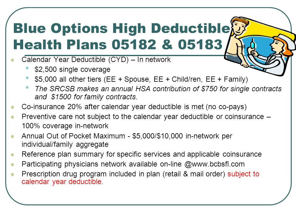 Blue Options High Deductible Health Plans 05182 & 05183