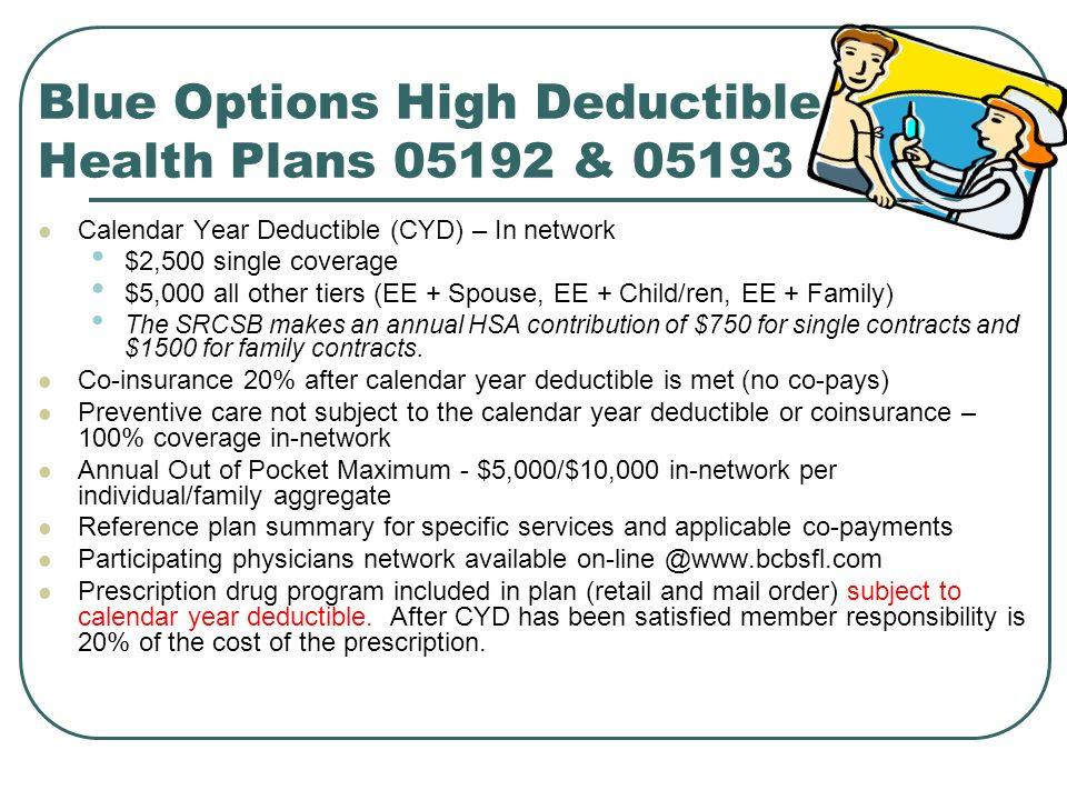 Blue Options High Deductible Health Plans 05192 & 05193