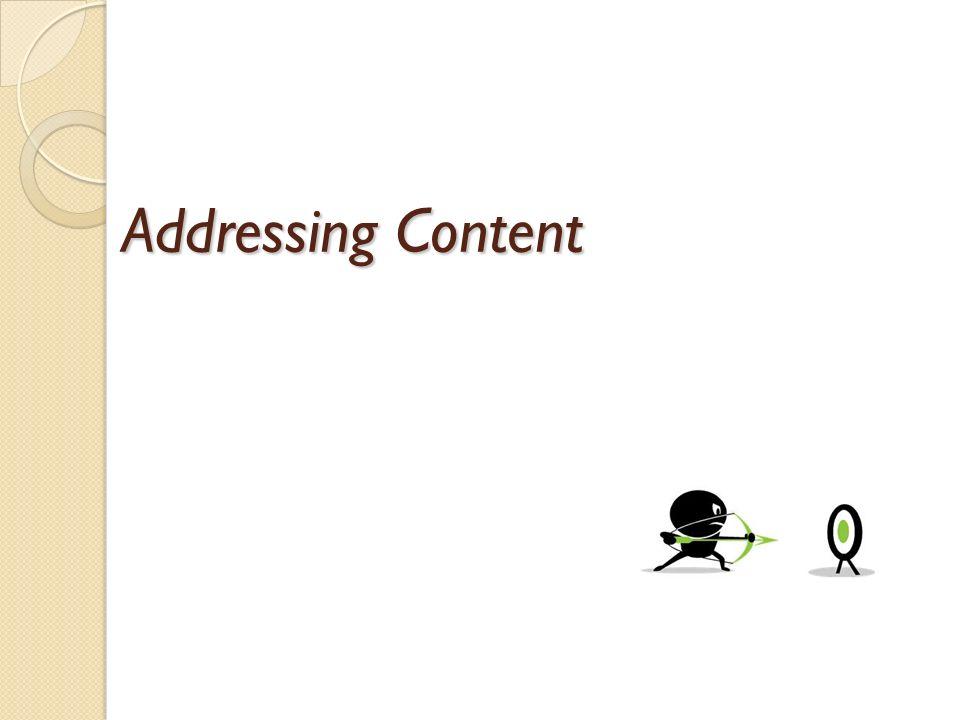 Addressing Content