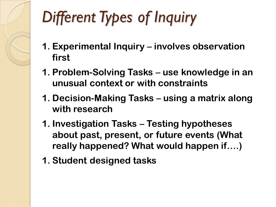 Different Types of Inquiry