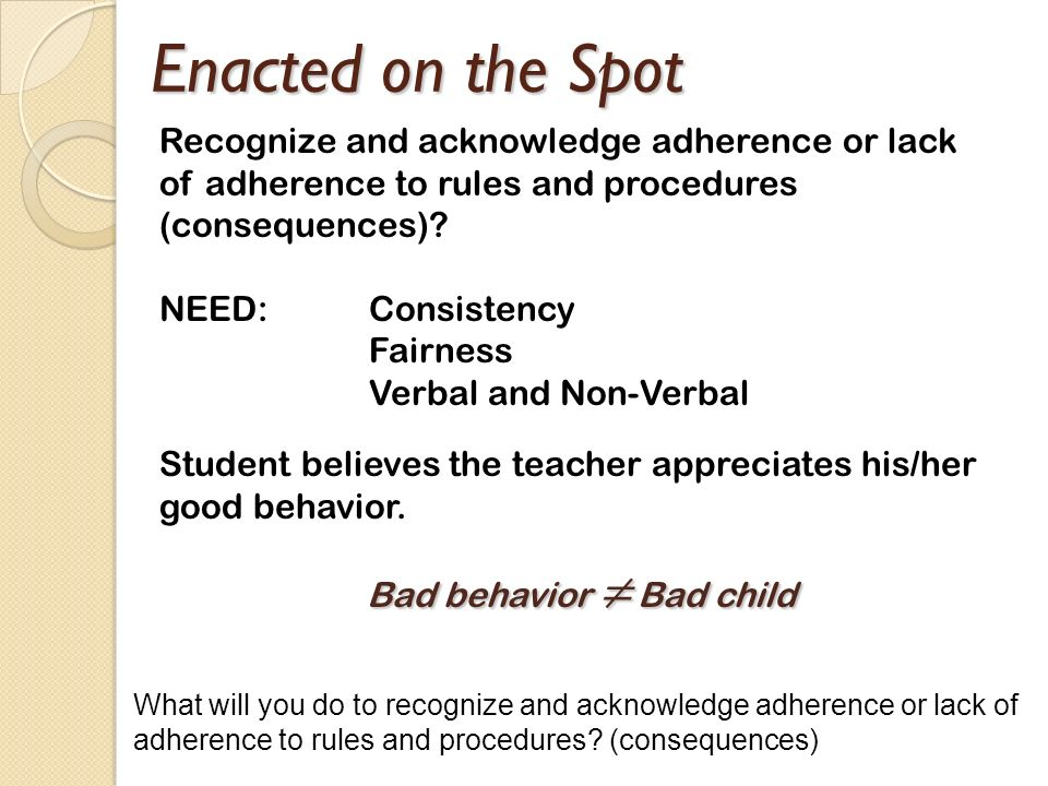 Bad behavior ≠ Bad child