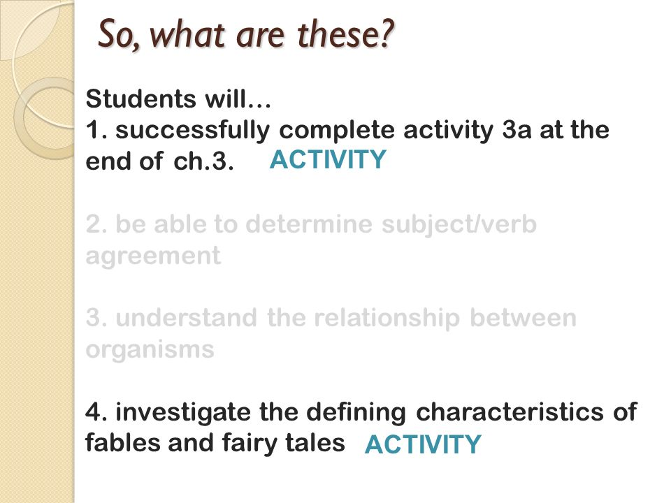 So, what are these Students will…