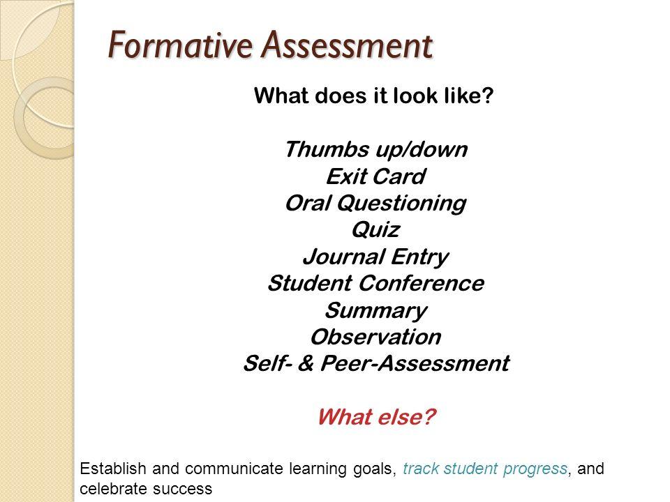 Self- & Peer-Assessment