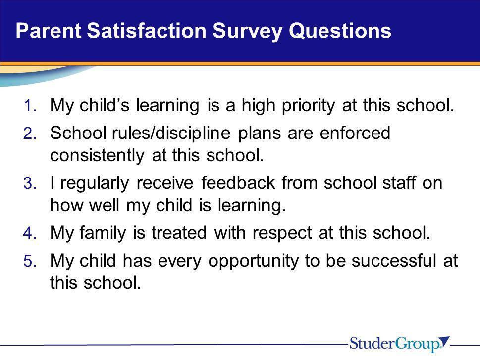 Parent Satisfaction Survey Questions
