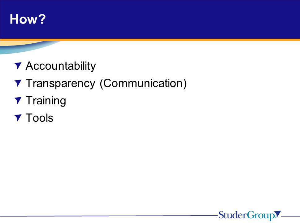 How Accountability Transparency (Communication) Training Tools