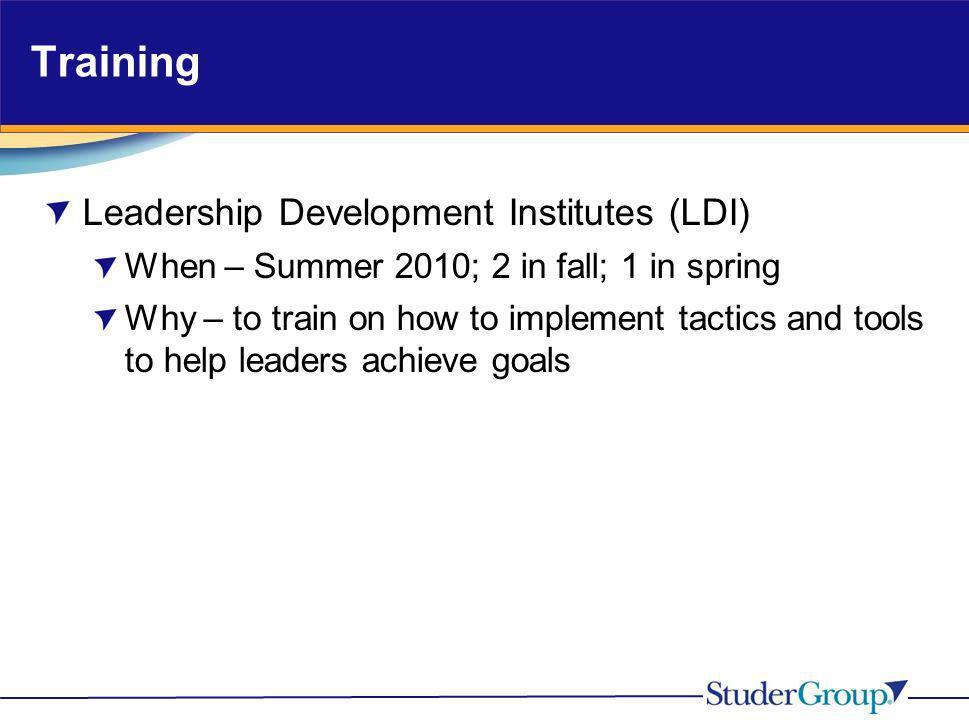 Training Leadership Development Institutes (LDI)