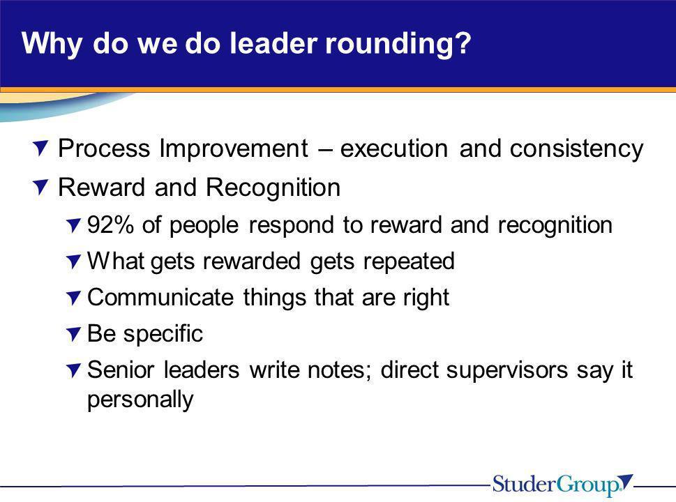 Why do we do leader rounding