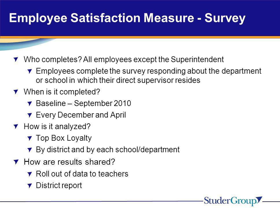 Employee Satisfaction Measure - Survey