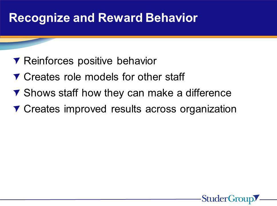 Recognize and Reward Behavior