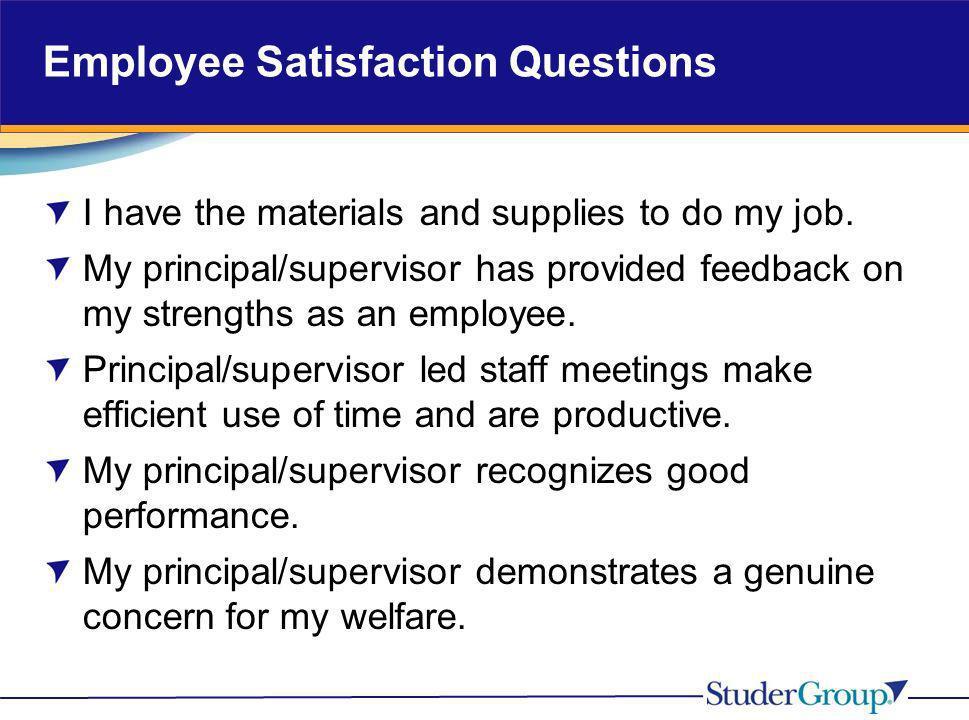 Employee Satisfaction Questions