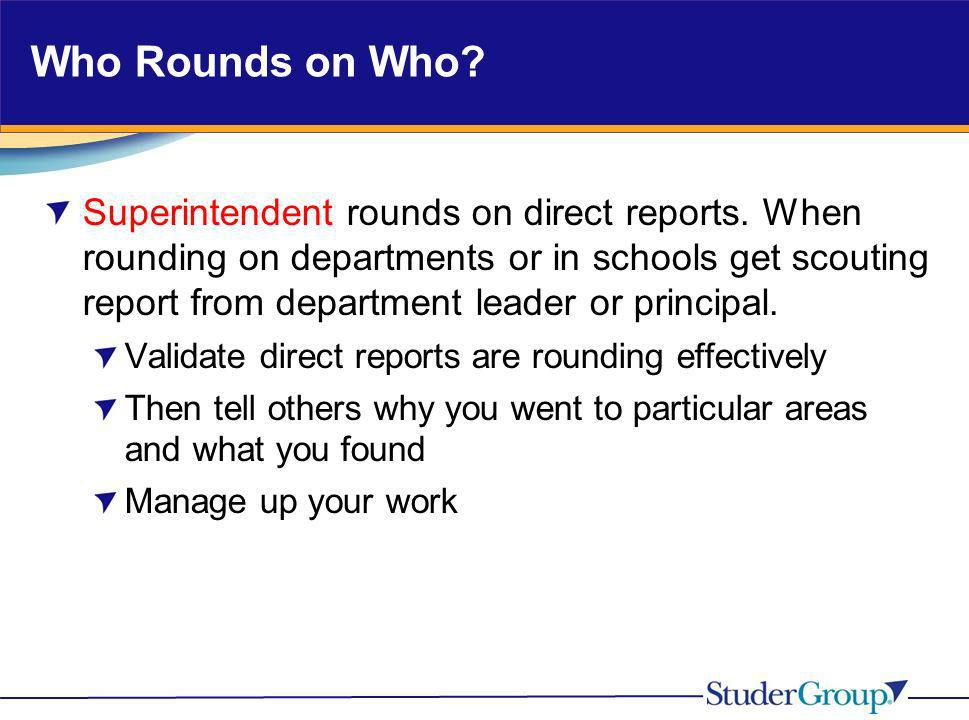 Who Rounds on Who