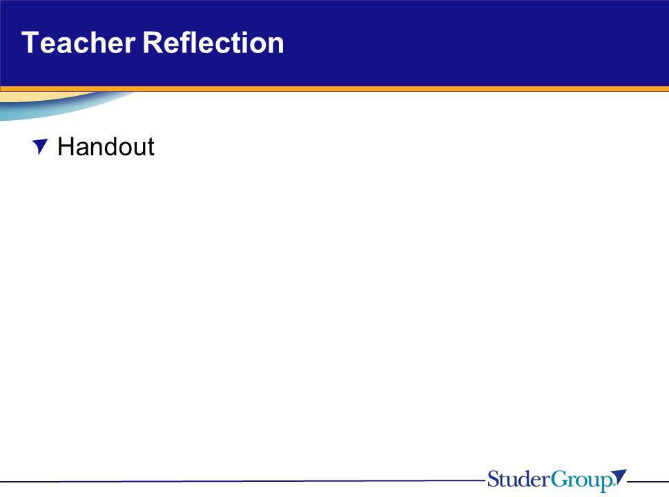 Effective instructor reflection