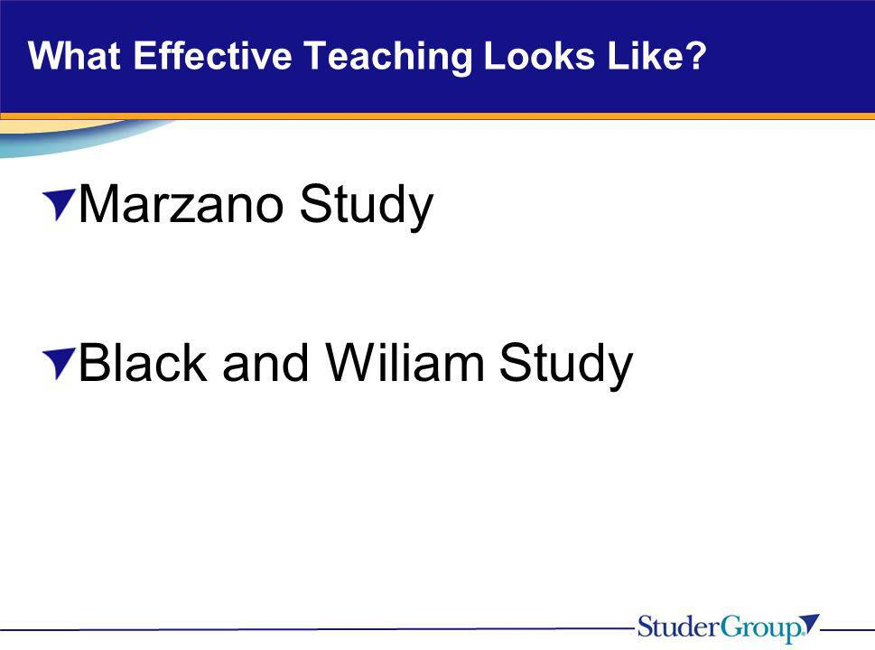 What Effective Teaching Looks Like