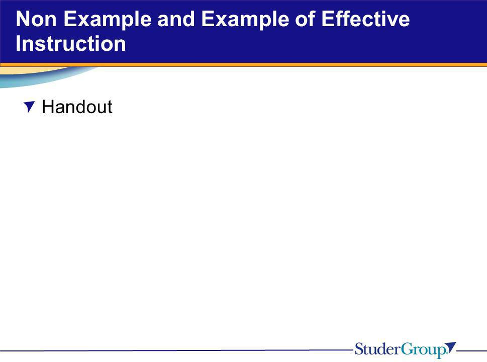 Non Example and Example of Effective Instruction