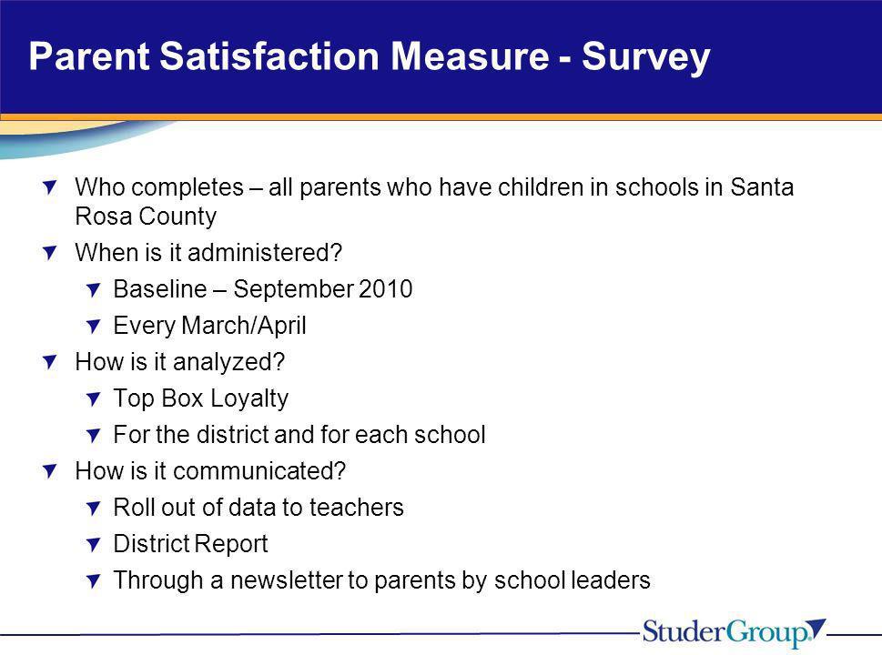 Parent Satisfaction Measure - Survey