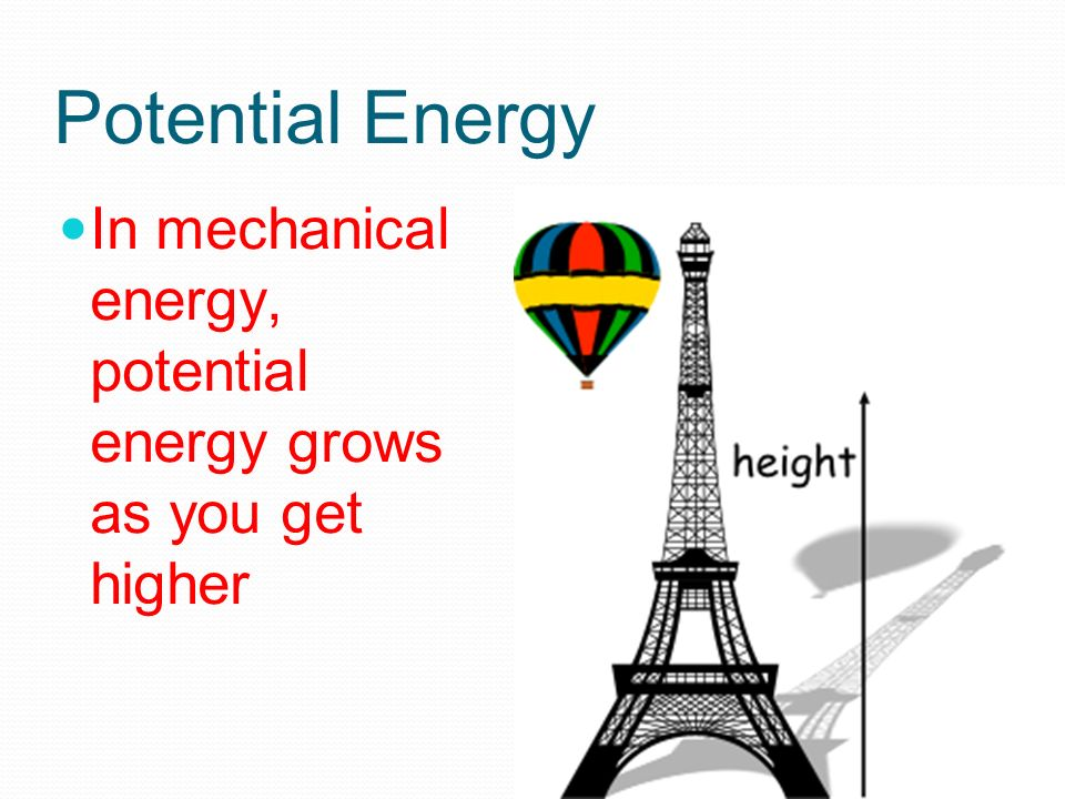 how to get potential energy minecraft