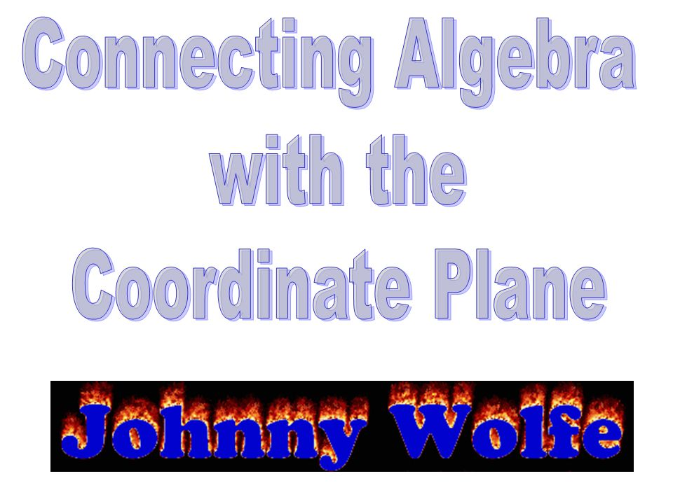 Connecting Algebra with the Coordinate Plane