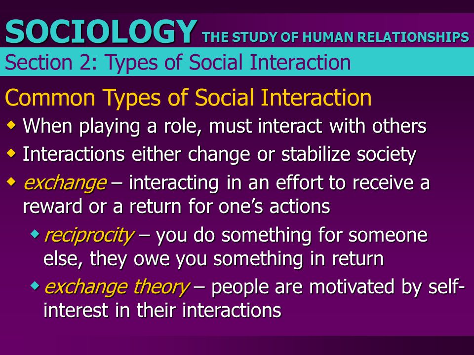 Common Types of Social Interaction