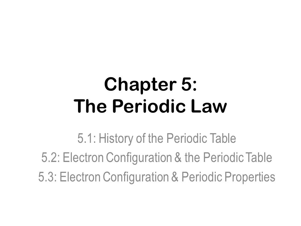 Chapter 5 The Periodic Law ppt video online download – Periodic Law Worksheet