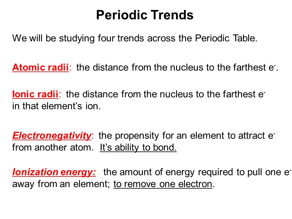 Periodic trends ppt download 8 periodic trends urtaz Image collections
