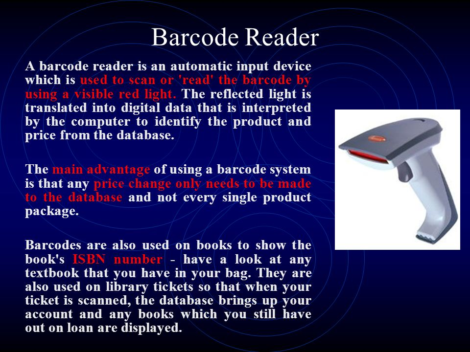 automated library system using barcode reader Automated library involves keying in a large amount of data sometimes, the library staff at  barcode technology and its application in libraries and information centers vol1 no1  connecting the scanner worki ng of barcode system barcode technology works in the same way as a.