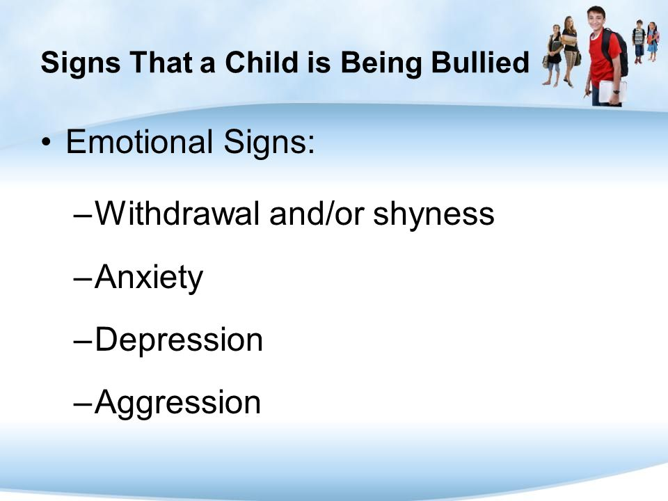 Signs That a Child is Being Bullied