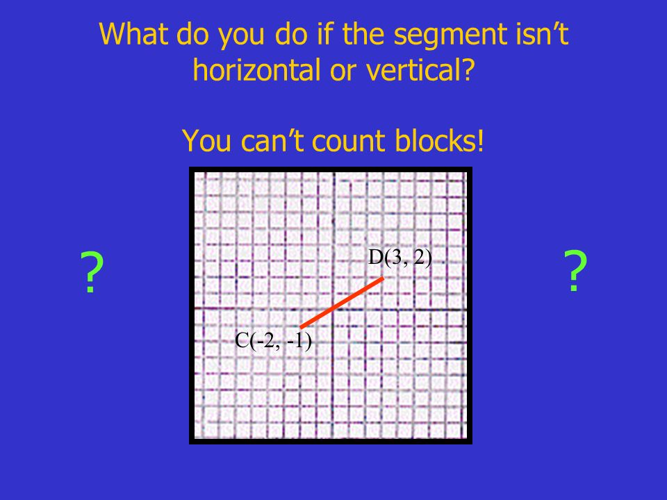 What do you do if the segment isn't horizontal or vertical