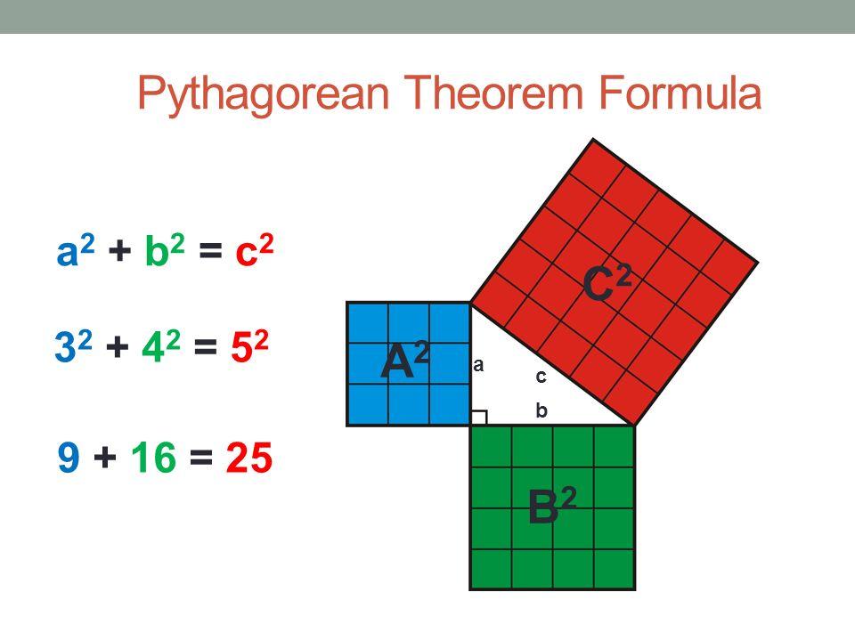 Image result for pythagorean theorem formula