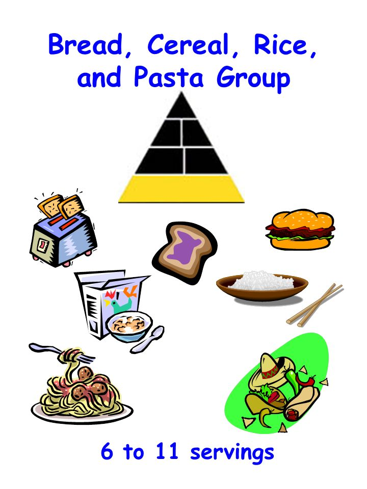 Bread, Cereal, Rice, and Pasta Group