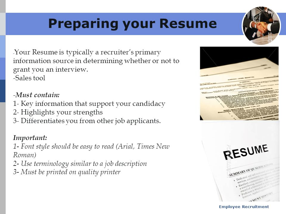 employee recruitment ppt