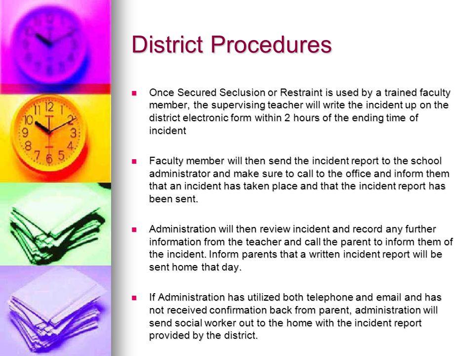 District Procedures