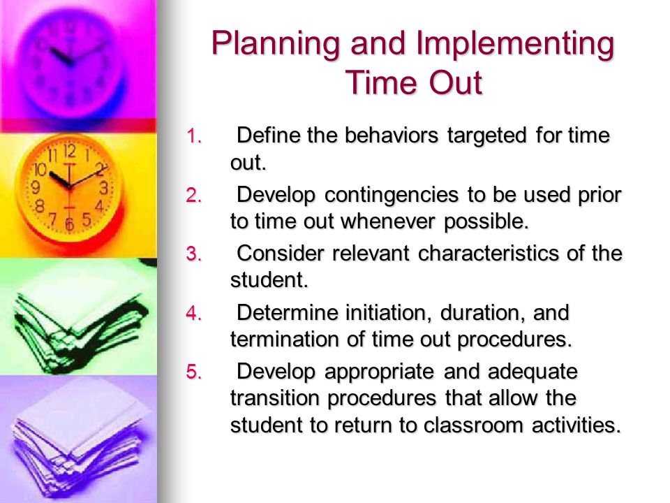 Planning and Implementing Time Out