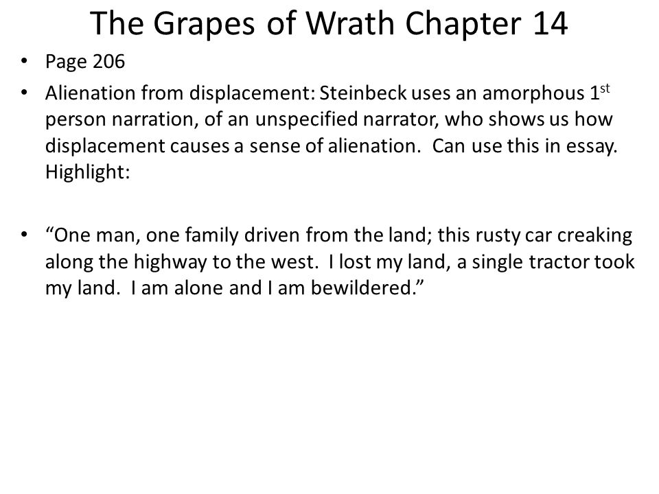 Chapter 14 Notes from Grapes of Wrath