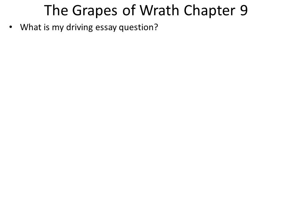 grapes of wrath interc chapter 3 Experiences he wrote the grapes of wrath, which upon publication in 1939 earned steinbeck both high praise (including described in chapter 3.
