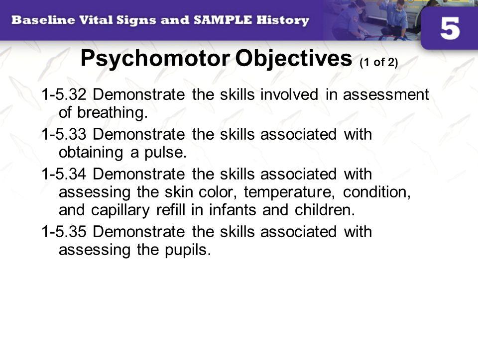 5  baseline vital signs and sample history