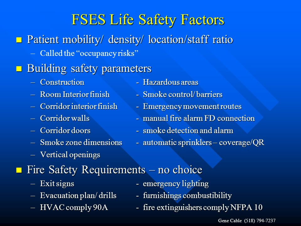 FSES Life Safety Factors
