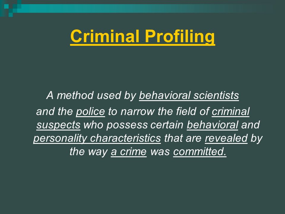 psychological and psychiatric foundations of criminal behavior Overview criminal psychiatrist, also referred to as a forensic psychiatrist, is a medical doctor who has received specialized training in both law and mental health fields by using the knowledge gained from the unique blend of professions, criminal psychiatrists are able to assist juries and lawyers in the evaluation of the.
