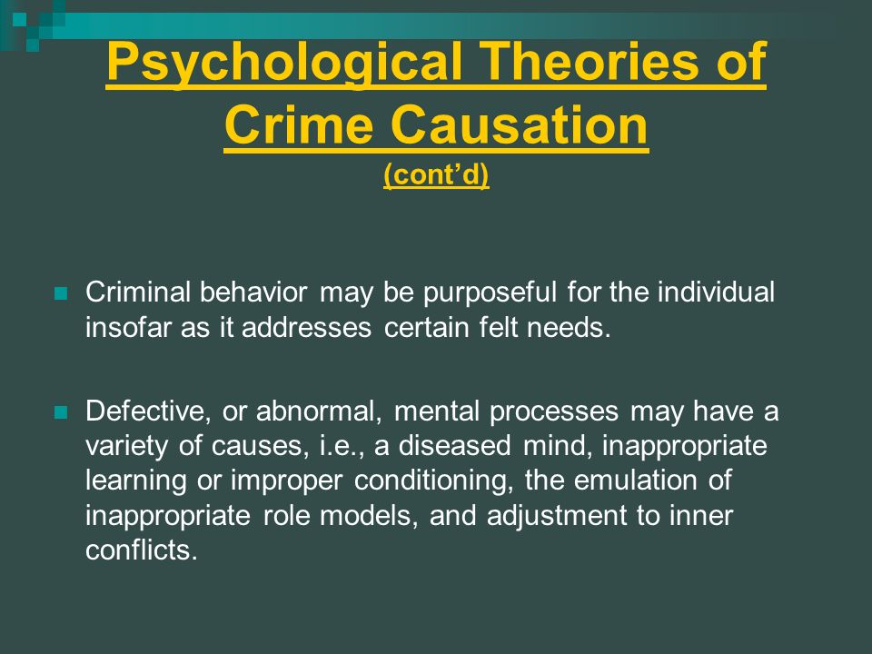 Psychological Theories of Crime