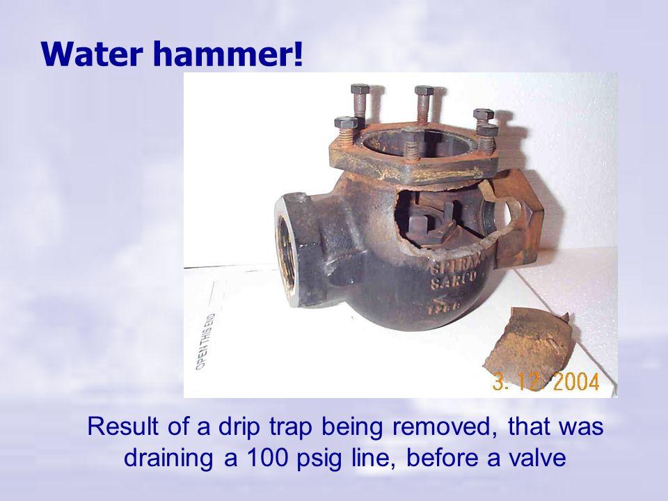 Water hammer.