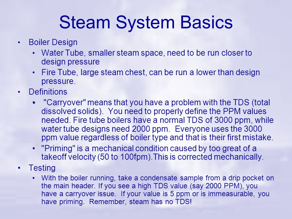 Steam System Basics Boiler Design
