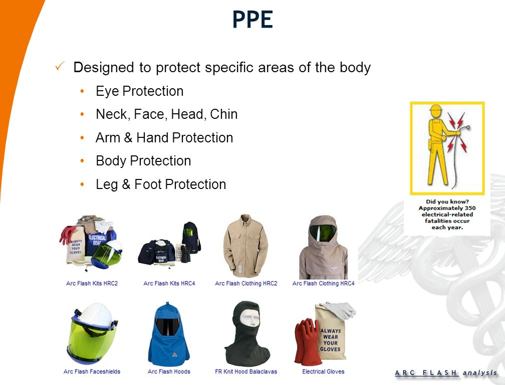 PPE Designed to protect specific areas of the body Eye Protection