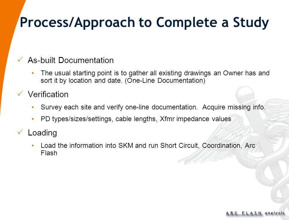 Process/Approach to Complete a Study