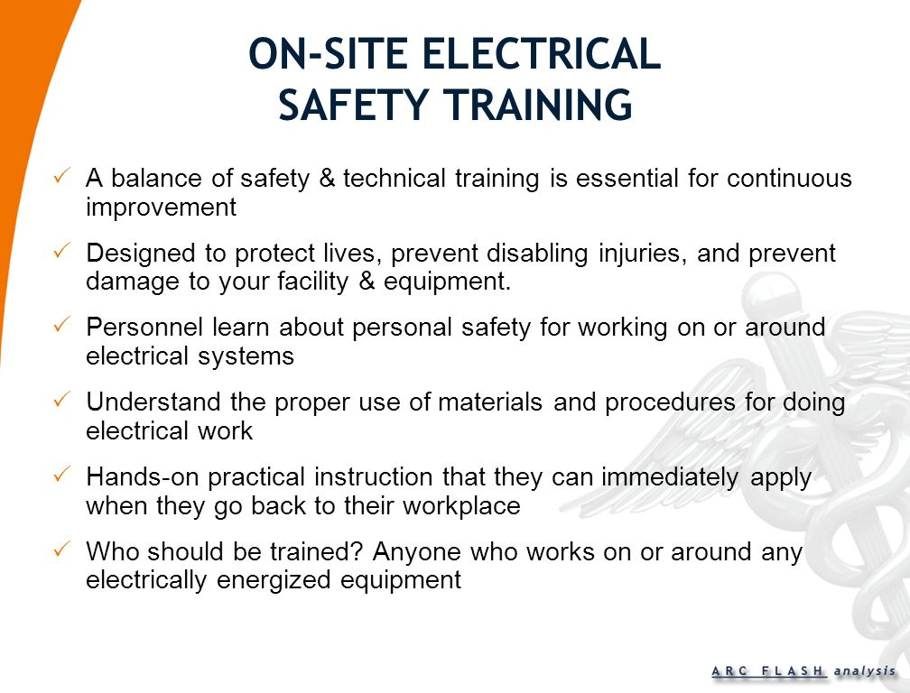 ON-SITE ELECTRICAL SAFETY TRAINING