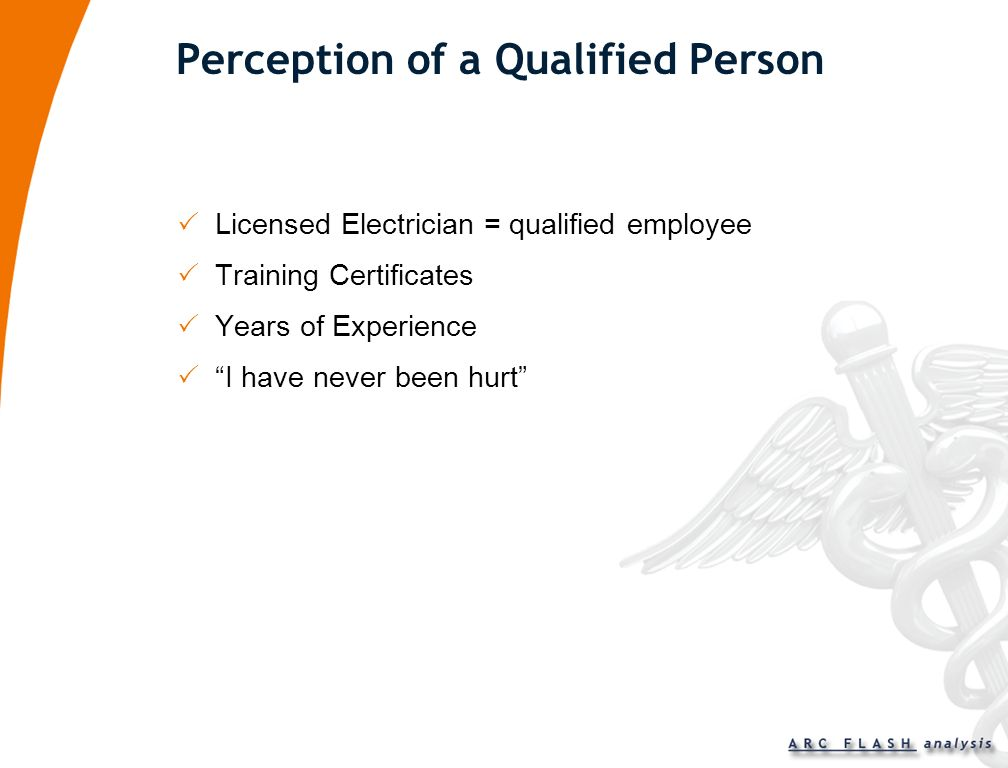 Perception of a Qualified Person