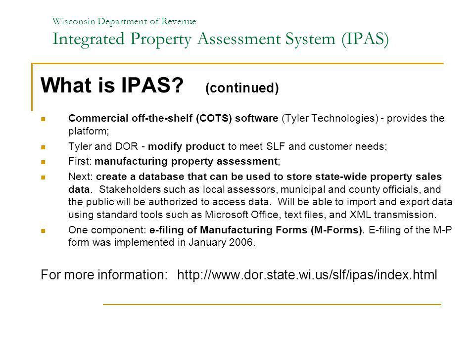 What is IPAS (continued)