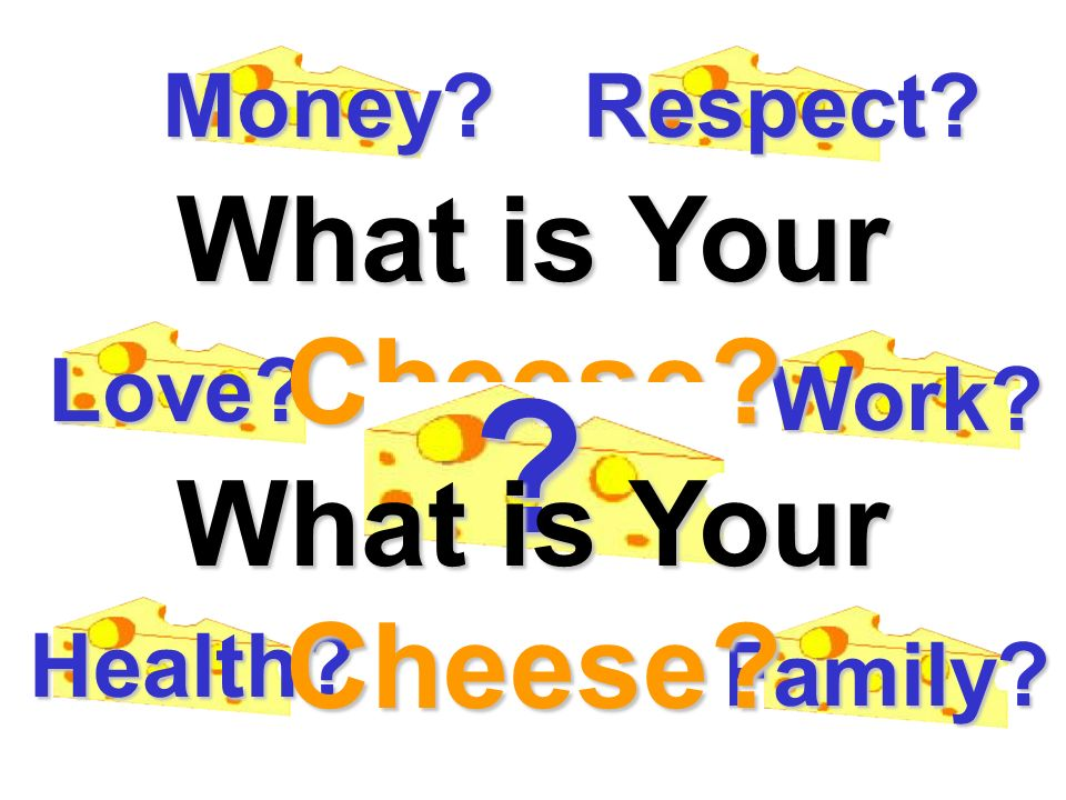 What is Your Cheese What is Your Cheese Money Respect Love