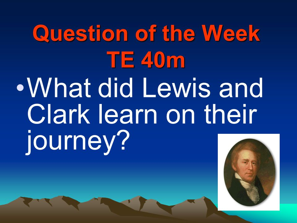 Question of the Week TE 40m