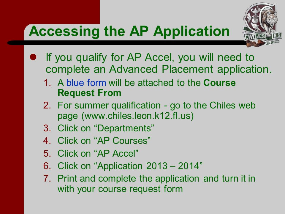Accessing the AP Application