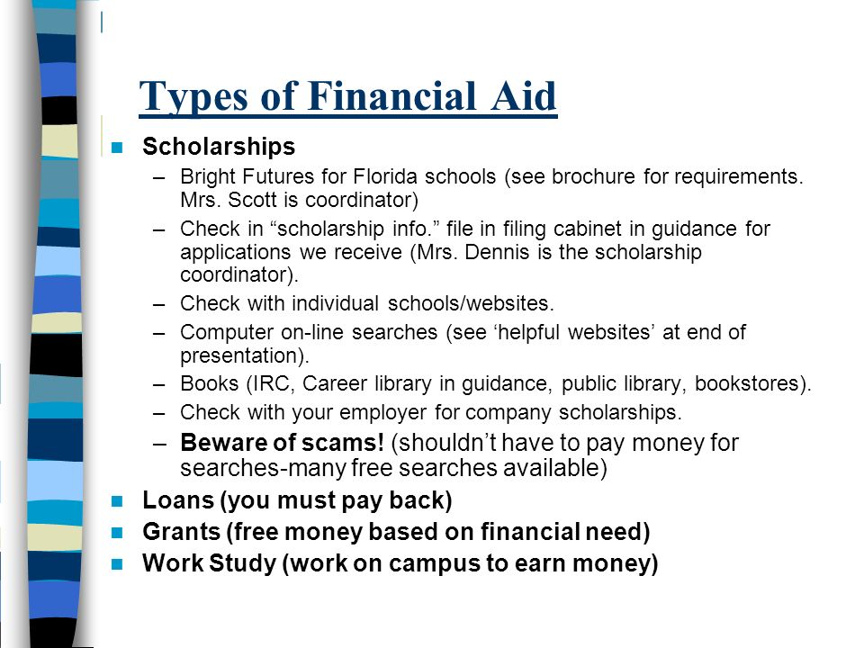 Types of Financial Aid Scholarships
