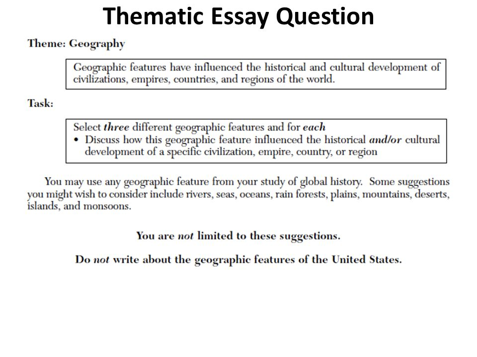 Geography is destiny essay